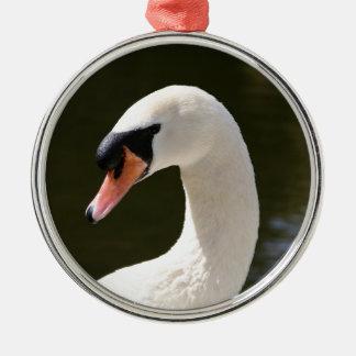 Swan Portrait Metal Ornament