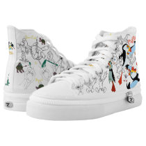 Swan Princess Animals&Bromley HighTop Sketch Shoes