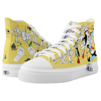 Swan Princess Animals High Top Sketch Shoes