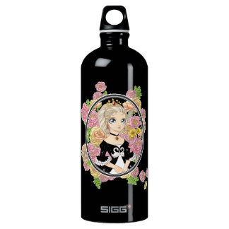 Swan Princess (black) Aluminum Water Bottle