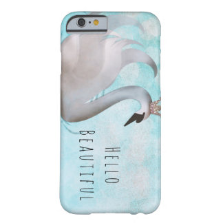 Swan Princess Faux Gold Glitter Chic Fairy Tale Barely There iPhone 6 Case