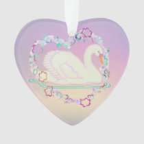 Swan Princess heart-ornament Ornament