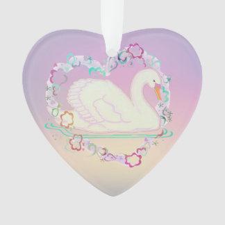 Swan Princess heart-ornament Ornament