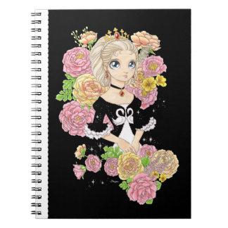 Swan Princess notebook (black)