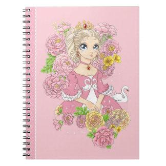 Swan Princess notebook (pink)