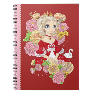 Swan Princess notebook (red)