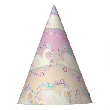 Valentines Themed Swan Princess party hat