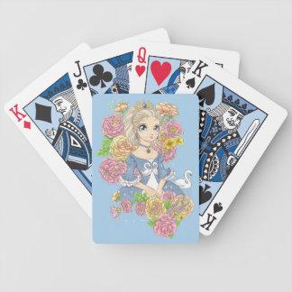 Swan Princess playing cards (blue)