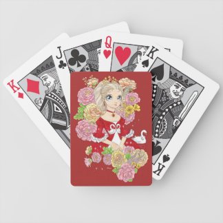 Swan Princess playing cards (red)