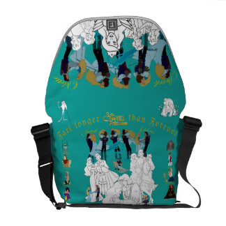 Swan Princess Sketch Messenger Bag (Peacock)