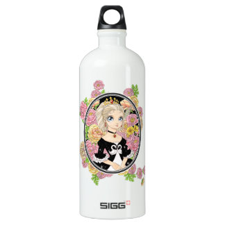 Swan Princess (white) Aluminum Water Bottle