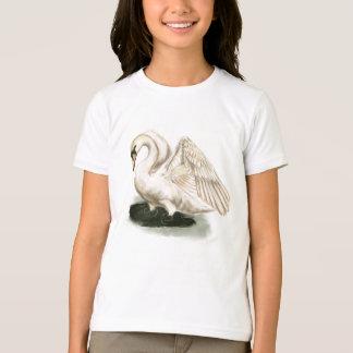 Swan Print on Kid's American Apparel Tee
