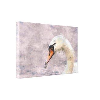 Swan Profile Wrapped Canvas wrappedcanvas