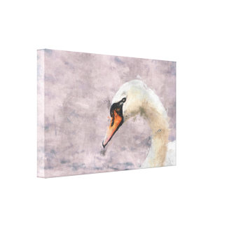 Swan Profile Wrapped Canvas Gallery Wrapped Canvas
