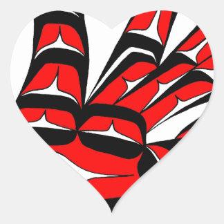 SWAN RED HEART STICKER