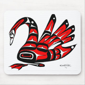 SWAN RED MOUSE PAD
