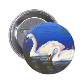 Swan Reflections Button