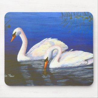 Swan Reflections Mousepad mousepad