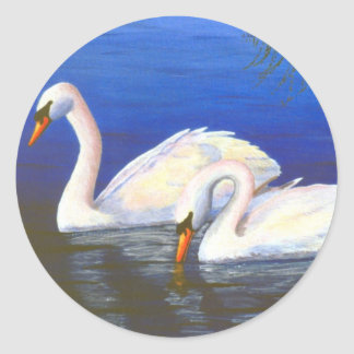 Swan Reflections Sticker