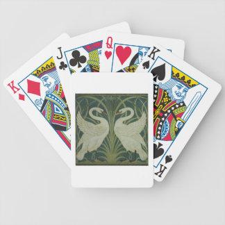 'Swan, Rush and Iris' wallpaper design Card Decks