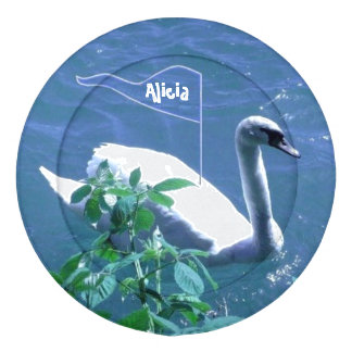 Swan Sailing Kids Name Button Covers Pack Of Large Button Covers