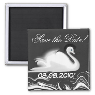 Swan ~  Save the  Date Refrigerator Magnet