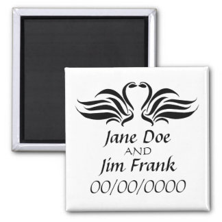 Swan Save the Date Wedding Magnet