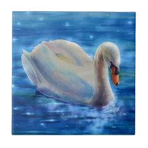 Swan Serentity Ceramic Tile