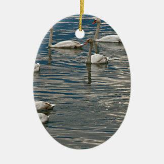 Swan Song Ceramic Ornament