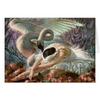 Swan Song Greeting Card by EarthSeaSky