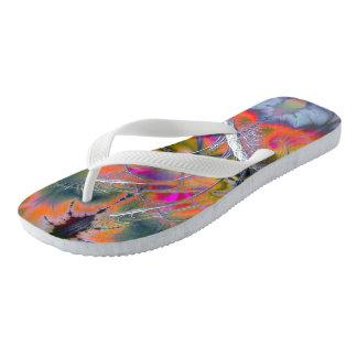 Swan Song Psychedelic Fractal Flip Flops