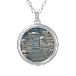 Swan Song Silver Plated Necklace