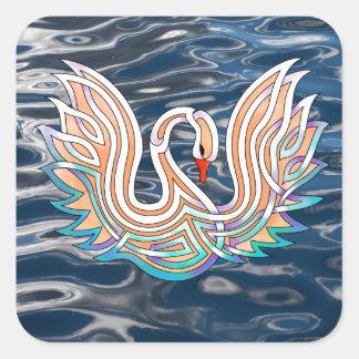 Swan Square Sticker