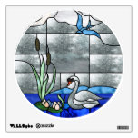 Swan Stained Glass Window Decal