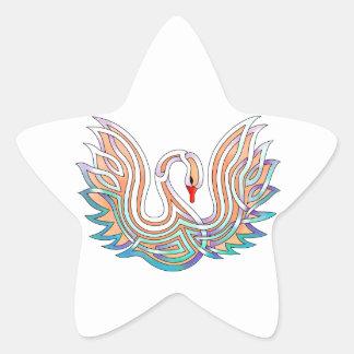 Swan Star Sticker