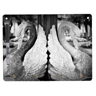 Swan Statue Dry Erase Board With Keychain Holder