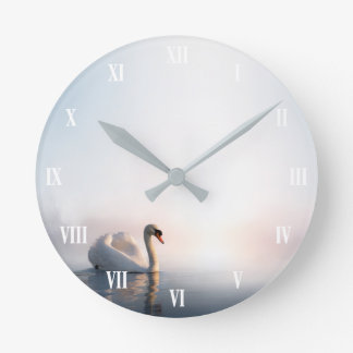 Swan Sunrise Wall Clock