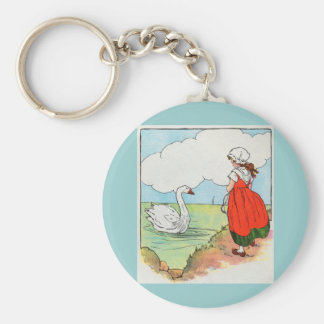 Swan, swan, over the sea.  Swim, swan, swim! Keychain