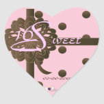 Swan Sweet Sixteen Gifted Heart Sticker -Cust.