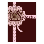"Swan Sweet Sixteen Retro Polka Dot Invitation 5"" X 7"" Invitation Card"