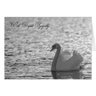 Swan Sympathy Card, Deepest Sympathy Card