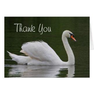Swan Thank You Card