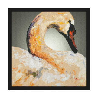 Swan Wall Art Elegant Home Decor Customizable