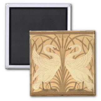 Swan wallpaper design 2 inch square magnet