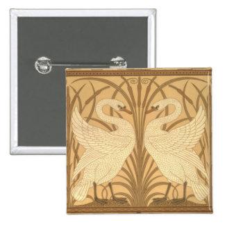 Swan wallpaper design pinback button