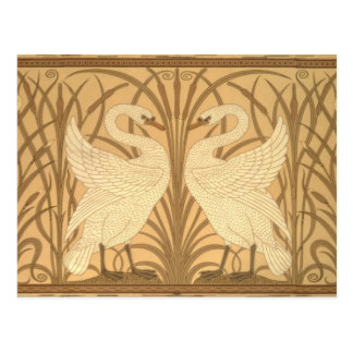 Swan wallpaper design postcard