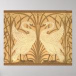 Swan wallpaper design posters