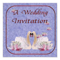 Swan Wedding Invitation