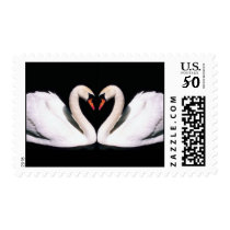 Swan Wedding postage stamps