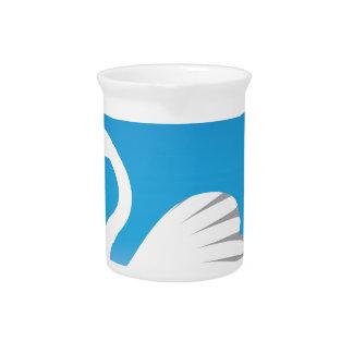Swan White Beverage Pitchers